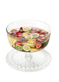 Fruit Jello. A bowl of colorful fruit in a jello mold Stock Photo