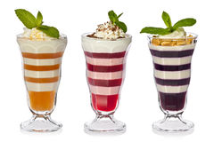 Fruit Jello Parfaits royalty free stock photo