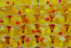 Fruit jelly. In the market sells fruit jelly Stock Photography