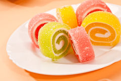 Fruit jelly Royalty Free Stock Images