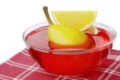 Fruit jelly. On a white background Royalty Free Stock Photos