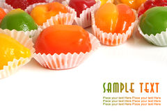 Fruit jelly Stock Photography