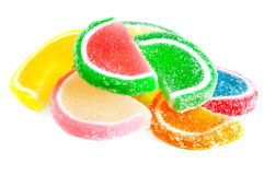The fruit jelly Stock Photos
