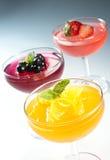 Fruit jelly stock photos