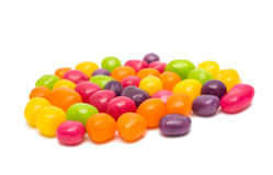 fruit jelly beans isolated Royalty Free Stock Image