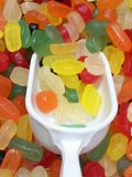 Fruit jelly beans Royalty Free Stock Image
