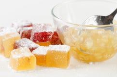 Fruit jelly bonbons Royalty Free Stock Photo