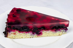 Fruit jelly cake with forest fruits Royalty Free Stock Photos
