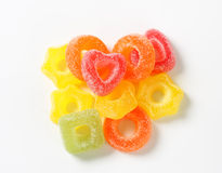 Fruit jelly candy stock images