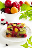 Fruit jelly with champagne. Stock Image