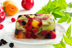 Fruit jelly  with champagne Stock Image
