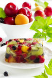 Fruit jelly with champagne Royalty Free Stock Image