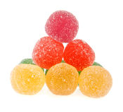 Fruit jelly colored balls Royalty Free Stock Image