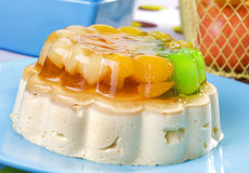 Fruit jelly dessert Royalty Free Stock Image
