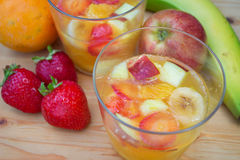 Fruit jelly dessert closeup Royalty Free Stock Images