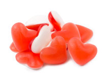 Fruit jelly in the form of heart Royalty Free Stock Photos