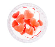 Fruit jelly in the form of heart Stock Photo