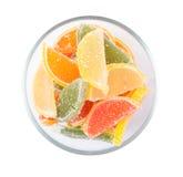 Fruit jelly fruit segments Royalty Free Stock Photography