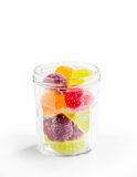 Fruit Jelly in Glass Jar Stock Photo