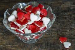 Fruit jelly hearts Royalty Free Stock Photo