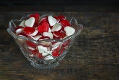 Fruit jelly hearts Stock Image