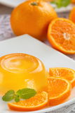 Fruit jelly with oranges Stock Photos