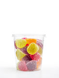 Fruit Jelly in Plastic Jar Royalty Free Stock Photo