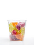 Fruit Jelly in Plastic Jar Royalty Free Stock Images