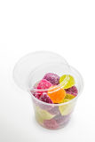 Fruit Jelly in Plastic Jar Stock Photography
