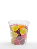 Fruit Jelly in Plastic Jar Stock Images