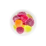 Fruit Jelly in Plastic Jar Stock Photos