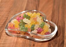 Fruit Jelly, Sour, Sugar, Shell Stock Photo