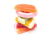 Fruit Jelly Top Group Isolated Image stock