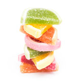 Fruit Jelly Top Group Isolated Stock Image