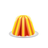 Fruit jelly vector Royalty Free Stock Photos