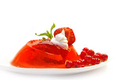 Fruit jelly on white Stock Images