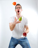 Fruit Juggle Stock Photo