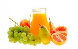 Fruit juice. Fresh mixed fruit juice ready to drink Royalty Free Stock Photo