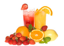 Fruit and juice royalty free stock photography