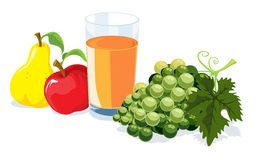 Fruit and juice Royalty Free Stock Image
