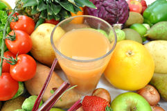 Fruit and juice Royalty Free Stock Images