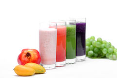 Fruit juice. A variety of colorful fruit juice drinks Stock Photography