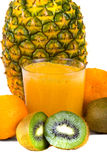 Fruit Juice. Photo of a fruit juice with fruits on background Stock Images