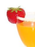 Fruit Juice. Fresh orange juice with strawberry stock photography
