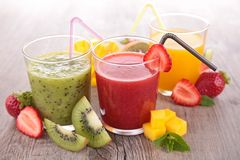 Fruit juice. Assortment of fresh fruit juice Stock Images