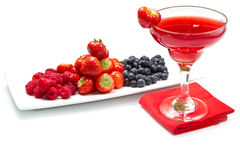 Fruit juice with berries Royalty Free Stock Photography