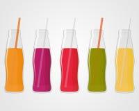Fruit juice bottle illustration. Concept drink Stock Image