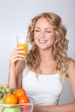 Fruit juice brings vitamins Stock Images