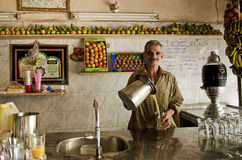 Fruit juice cafe in cairo egypt Royalty Free Stock Photo