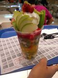 Fruit juice. Chilled Fruit juice Stock Photos